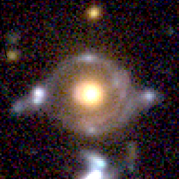 "An international team of researchers have discovered an extremely rare ""double source plane"" gravitational lensing system, in which two distant galaxies are simultaneously lensed by a foreground galaxy, as part of the on-going Subaru Strategic Survey with Hyper Suprime-Cam. The team dubbed the system 'Eye of Horus' as the system resembles this ancient Egyptian symbol.  Such a rare system is a unique probe of the fundamental physics of galaxies as well as cosmology."