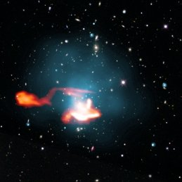 "In observations of galaxy clusters, astronomers in collaboration with the MPA discovered a new class of cosmic radio sources. With the digital radio telescope Low Frequency Array (LOFAR) they received the longest radio waves that can be measured on Earth. They identified a remarkable ""tail""behind a galaxy in the radio light, which must have been re-energized after it had faded away."