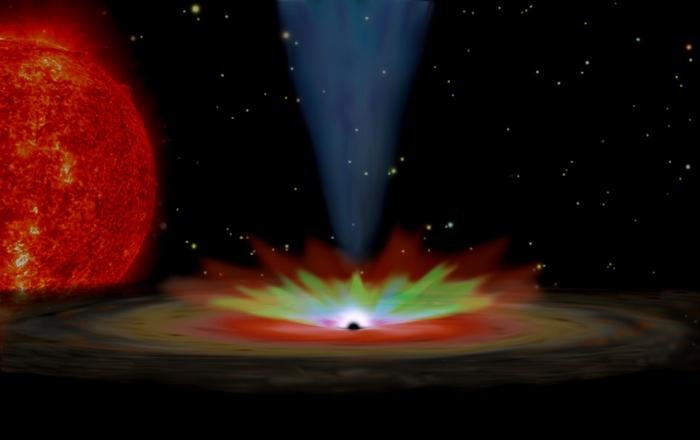 An artist's impression of an X-ray binary