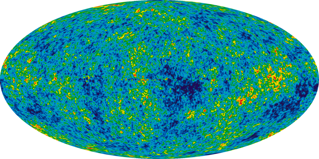 Image of the Cosmic Microwave Background created from nine years of WMAP data.