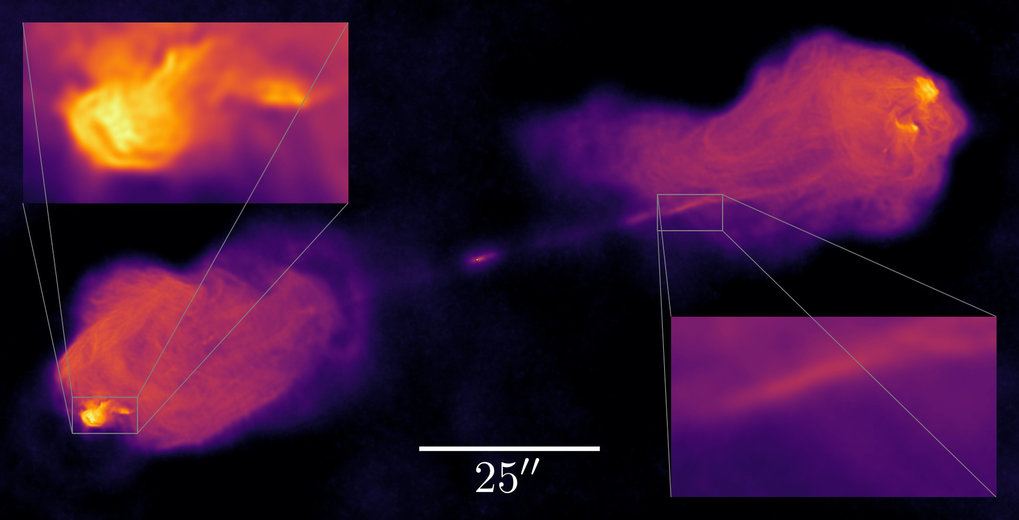 Radio telescopes observe the sky in a very indirect fashion. Sky images in the radio frequency range therefore have to be computed using sophisticated algorithms. Scientists at the MPI for Astrophysics have developed a series of improvements for these algorithms, which help to improve the telescopes' resolution considerably.